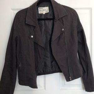 RVCA zip up moto jacket